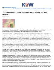 VC Super Angels Filling a Funding Gap or Killing The Next Google.pdf