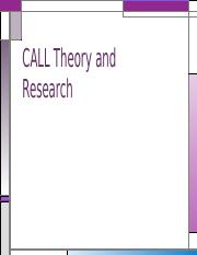 CALL Theory and Research