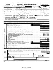 ROCK of Ages LLC 2015 Federal Form 1065 Page 1