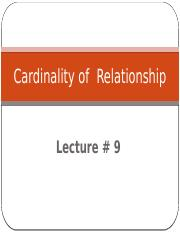 DB-Lec 9-Cardinality of Relationship.pptx
