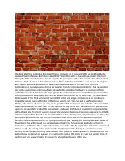 The Brick Wall best embodies the major themes of power