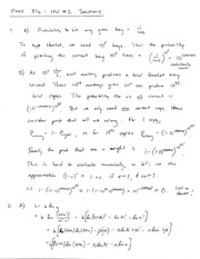Homework B Solutions on Thermal Physics