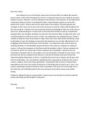 Letter to Instructor