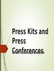 Press Kits and Press Conferences.ppt