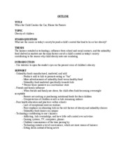 Essay #2 Outline & Annotated Bibliography