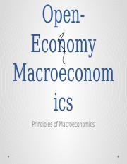 Chapter 19 Open Economy Macroeconomics