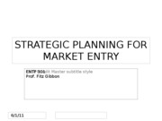 Strategic Plan Design