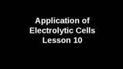 Applicationelectrolyticells