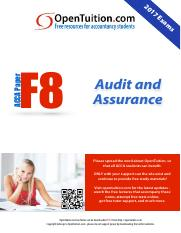 ACCA F8 S17 Notes pdf - 20 17 Ex am s ACCA Paper F8 Audit and