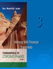 Chapter 3 - Working with Financial Statements Student
