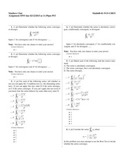 Homework 5 Solutions- Maclaurin and Taylor polynomials (cont.)