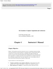 Chapter 1 Instructor's Manual