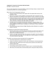 CRJ 410 Assignment 3- Concerns for Corrections Staff and Inmates
