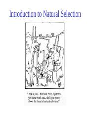 Topic+4,+Introduction+to+Natural+Selection