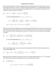 Example Problems Ch 21