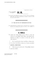 Voting Rights Act Bill