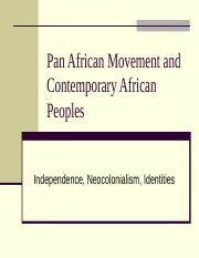 Pan African Movement and Contemporary African Peoples.ppt