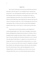 Paper 2: The Shoemaker and the Tea Party and The Mysterious Death of  Mary Rogers