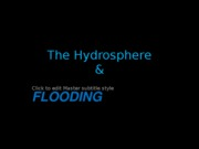 Flooding and Flood Management