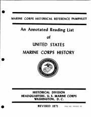 An Annotated Reading List Of United States Marine Corps History.pdf