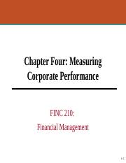 FM 8th Edition Chapter 4 - Measuring Corporate Performance