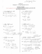 Trig Worksheet 2