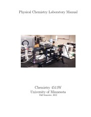 Physical Chemistry Laboratory Manual