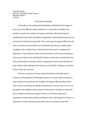 Public Policy Response Paper #1