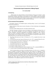 Environmental Impact Assessment of Mining Projects-17.03.09