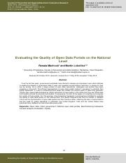 Evaluating the Quality of Open Data Portals on the National Level