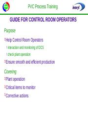 Guide for Control Room Operators