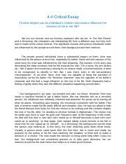 English 30 1 critical essay