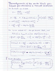 Thermodynamics_of_VdWgas