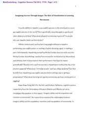 Cognitive Science- Visualization essay