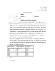 Lab report template high school physics curriculum