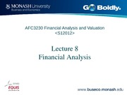 Lecture 8 AFC3230 Financial Analysis