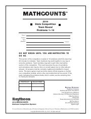 MATHCOUNTS_2014_State_Competition_-_Team_Round.pdf
