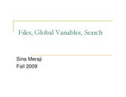 (17) File, Global Variables, Search (Sina)