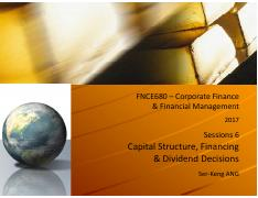 FNCE680_Corp Fin & Fin Mgmt_Session 6_Capital Structure, Financing & Dividend Decision.pdf