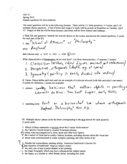 AHI 1C Mini Midterm Sample Questions