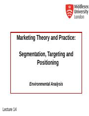 MKT1120 Lecture 14 Segmentation Targeting Positioning.ppt