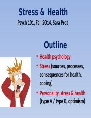 Prot Lecture 4 - Stress & Health - Complete notes.pptx