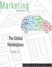 Chapter 15 Global Marketplace
