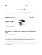 Lesson Handouts- Persuasive Writing