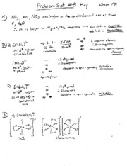 CHEM171 ProblemSet8Solutions