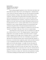 transgender reflection paper