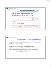Lecture 04-15-14 part 1 Simplex Method for Solving LPs