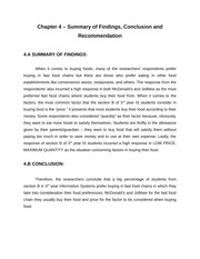 IM 154 - Marketing Research (Chapter 4 - Summary of Findings, Conclusion, and Recommendation)