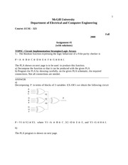 ECSE 323 Assignment 5 Solutions