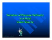 L8- Variation of Pressure in a Fluid